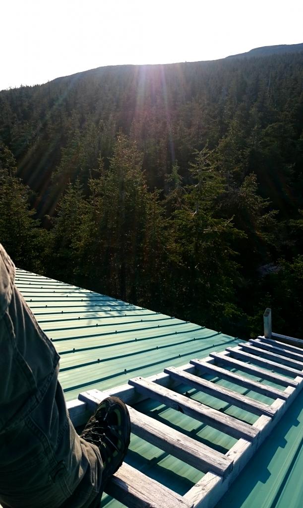 Sur le toit du refuge